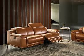 power reclining genuine leather sofa