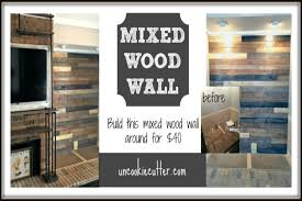 mixed wood wall easy diy