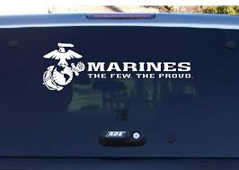 Usmc Decal Military Decal Us Marine Corps Decal The Few Etsy