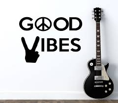 Peace World Wall Decal Quotes Good Vibes Vinyl Stickers Peace Sign Art Mural Hand Pattern Modern Wall Sticker Kids Rooms Syy831 Wall Sticker Kids Room Kids Roomwall Decals Quotes Aliexpress