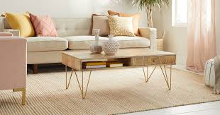 coffee table dimensions and placement