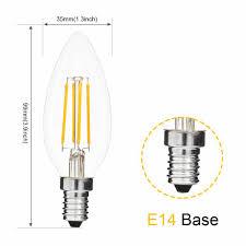 Bóng đèn LED dây tóc Bộ 5 bóng E14 400 lumens Trắng ấm 2700k tan-trang –  LINHKIENAMAZON.COM