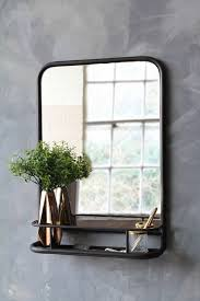 black antique style wall mirror with