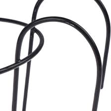 4 Pack Hanging Railing Planters Flower Pot Holders Plant Iron Racks Fence Metal Potted Stand Mounted Balcony Round Plant Baskets Shelf Container Box For Indoor And Outdoor Use Black Garden Steel Pots Stands