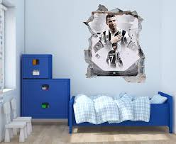 Amazon Com Cristiano R And J Stadium Wall Decal 3d Smashed Wall Wall Decal For Home Bedroom Hall Decoration Wide 30 X38 Height Home Kitchen