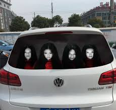 Terrifying Reflective Car Decals Taobao