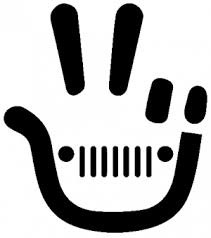 Jeep Wave Peace Sign Car Or Truck Window Decal Sticker Rad Dezigns