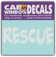 Car Window Decals Rescue I Love My Rescue Dog Cat Stickers Cars Trucks Walmart Com Walmart Com