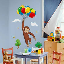 Curious George Storybook Giant Wall Decals Monkey Stickers Kids Or Nursery Decor Wall Decals Stickers Home Garden