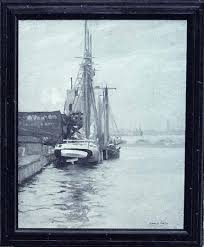 Boston Port , ( peinture ), 1911 de Howard Everett Smith (1885 ...