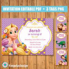 Invitacion Rapunzel Enredados Cumpleanos Pdf Editable Julieta