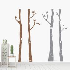 4 Large Birch Tree Wall Decals Woodland For Home And Office Decor Nursery Kids Baby Room Stickers Removable Vinyl Murals Ds017 Wall Stickers Aliexpress