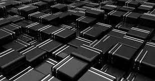 خلفية هيكل مكعبات 3d أسود خطوط Hd عريضة عالية الوضوح