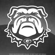 Georgia Bulldogs Logo Vinyl Decal Sticker 4 Size And Up More Colors Ebay