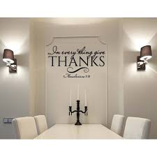 In Everything Give Thanks Wall Decal Black 20 X 36 Walmart Com Walmart Com