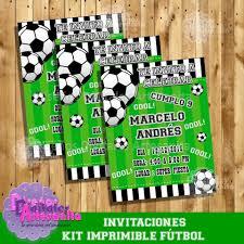 Kit Imprimible Fiesta Futbol Soccer Personalizado Facebook