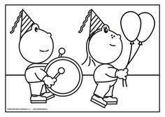 Frokkie En Lola Vieren Feest Met Trom En Ballonnen Omdat Ze Heel