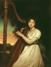 A Young Lady Playing the Harp', James Northcote, ?exhibited 1814 ...