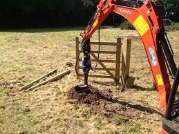 Fence Post Hole Borer Hire Kidderminster Auger Operator Inc Fencing Solutions