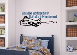 Air And Sky Things That Fly Includes Name Boy Room Decor Vinyl Decal Wall Stickers Letters