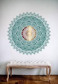 Mandala Prosperity And Love Stencil Mandala Pattern For Diy Etsy