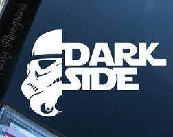 Dark Side Decal Etsy