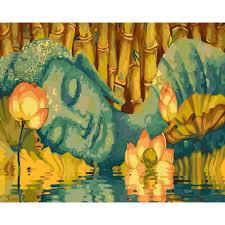 Tranh Tô Màu Theo Số 36 Màu Phật Giáo - Phật Nằm