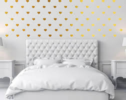 Gold Heart Decal Etsy