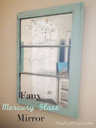 diy mercury glass mirror mercury