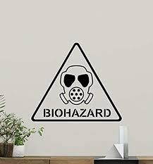 Amazon Com Biohazard Sign Wall Decal Triangle Danger Sign Vinyl Sticker Wall Decor Cool Wall Art Living Room Wall Design Modern Bedroom Wall Decor Mural 306rt Home Kitchen