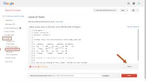robots txt to search console