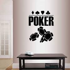 Amazon Com Wall Vinyl Decal Home Decor Art Sticker Poker Sign Chips Cards Suits Casino Room Removable Stylish Mural Unique Design Home Kitchen