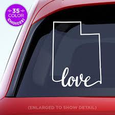 Amazon Com Utah State Love Decal Ut Love Car Vinyl Sticker Add A Heart Over Salt Lake City West Vally City Provo Ogden Orem Made With Outdoor Vinyl Handmade