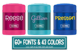 Thermos Funtainer Diy Personalized Name Waterproof Vinyl Decal Etsy