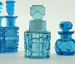 antique french glass scent bottles set
