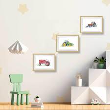 Green Tractor Art Print Kids Room Decor Farm Print Little Splashes Of Color Llc