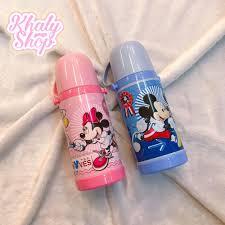 Bình nước giữ nhiệt hình chuột Mickey, chuột Minnie cho trẻ em ...