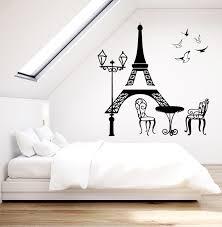 Vinyl Wall Decal Eiffel Tower Paris France Romance Landscape Stickers 1903ig Vinyl Wall Decals Vinyl Wall Wall Decals