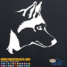 Awesome Husky Dog Head Car Window Decal Sticker