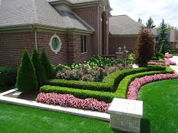 Double Hedge Idea Front House Landscaping Front Lawn Landscaping Front Door Landscaping