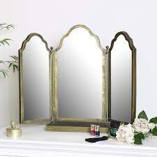 antique brass dressing table mirror
