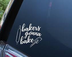 Baking Car Decal Etsy