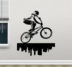 Bike Wall Decal Bmx Bicycle Extreme Poster Vinyl Sticker Art Decor Mural 7thn Ebay