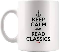 com keep calm classics books literature mug coffee