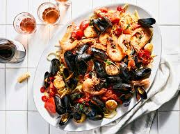 Seafood Pasta with Tomatoes, Chiles ...