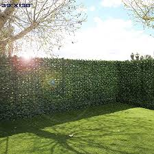 Windscreen4less Artificial Hedge Faux Ivy Fence Privacy Screen Fake Leaf Balcony Fencing And Vine Greenly Uv Procted Wall Decore Outdoor Garden Decorartion 39 X138 Amazon Ca Patio Lawn Garden