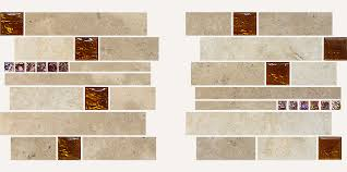 travertine glass mixed backsplash tiles