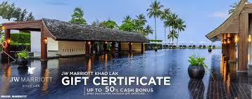 marriott thailand gift certificates