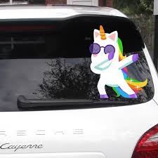 Dabbing Unicorn Decal Unicorn Car Decals Car Bumper Sticker Car Decal Unicorn Vinyl Decals Window Sticker Car Sticker For W70