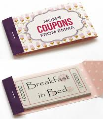 mothers day coupon booklets to